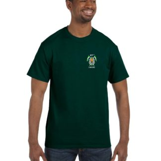 27th Lancers T-Shirt Small Logo Hunter Green