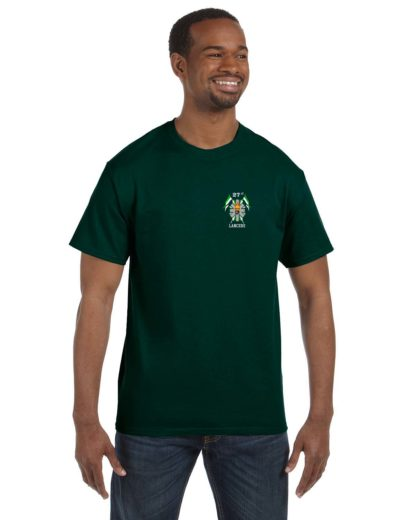 27th Lancers T-Shirt Small Logo Hunter Green