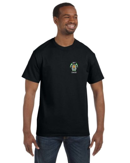 27th Lancers T-Shirt Small Logo Black