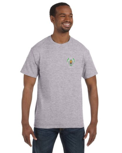 27th Lancers T-Shirt Small Logo Gray