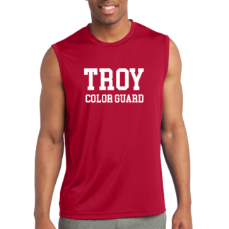 Mens Red Sleveless Tank Top