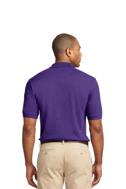 Purple Polo Shirt Back