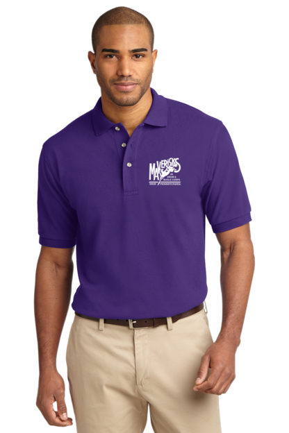 Mavericks Purple Polo Shirt Front