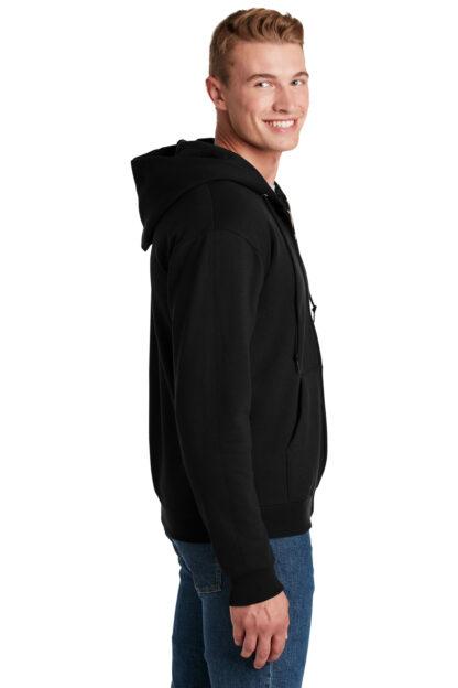 Zip Up Black Hoodie